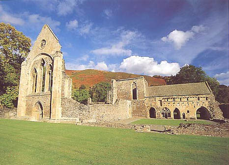 Valle Crucis Abbeyis just along the road from the Brit...
