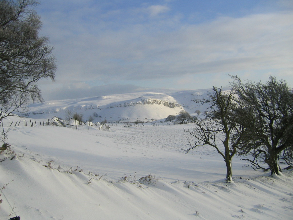 Eglwyseg mountains under 3 ft of snow!